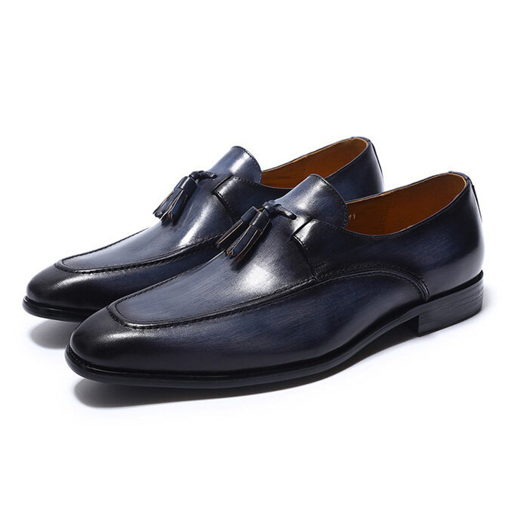 Ryan Navy Blue Tassel Loafer - Romèro Ferrera
