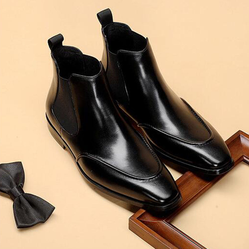 Hector Black Slip-on Chelsea Boot