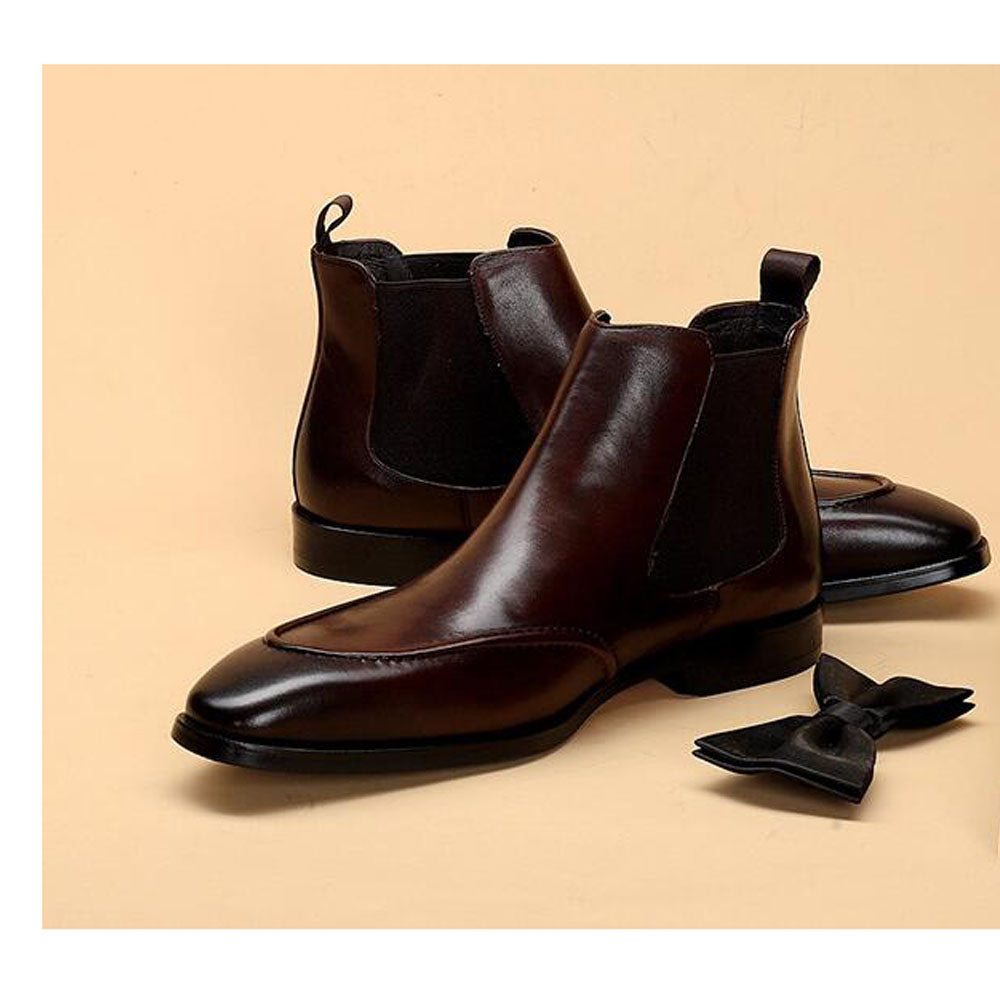 Hector Dark Brown Slip-on Chelsea Boot