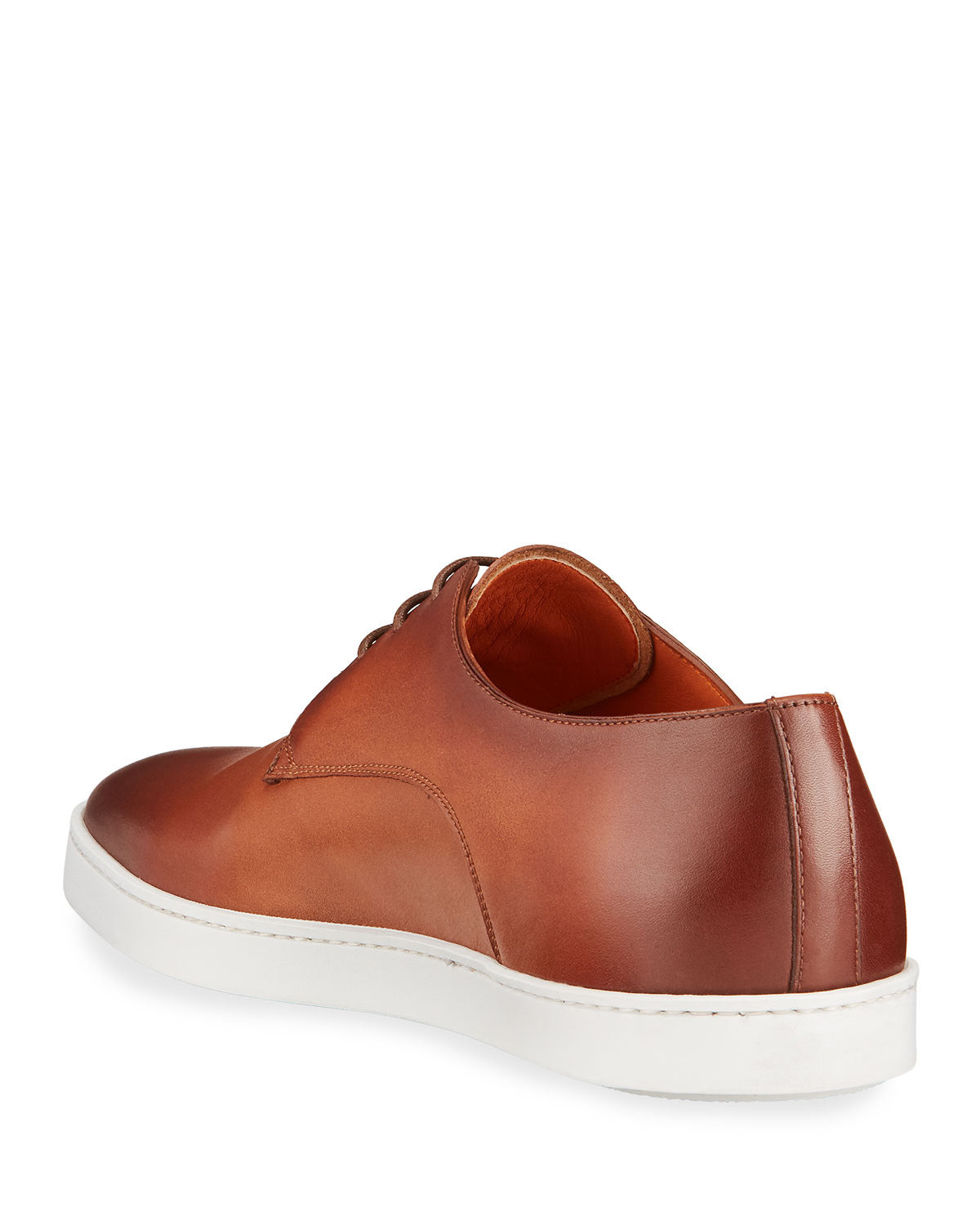 Tan Formal Derby Lace Up Sneaker for Men. White Comfortable Cup Sole.