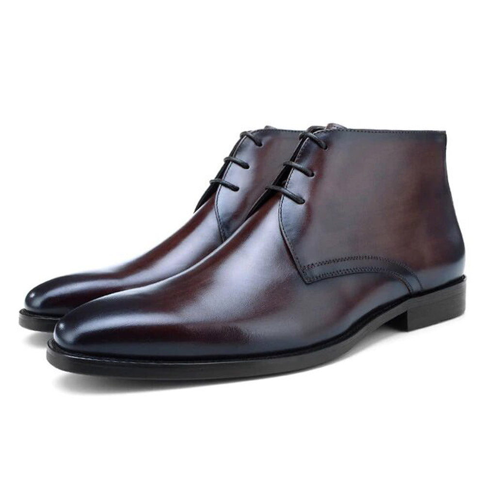 Harris Dark Brown Patina Chukka Boot