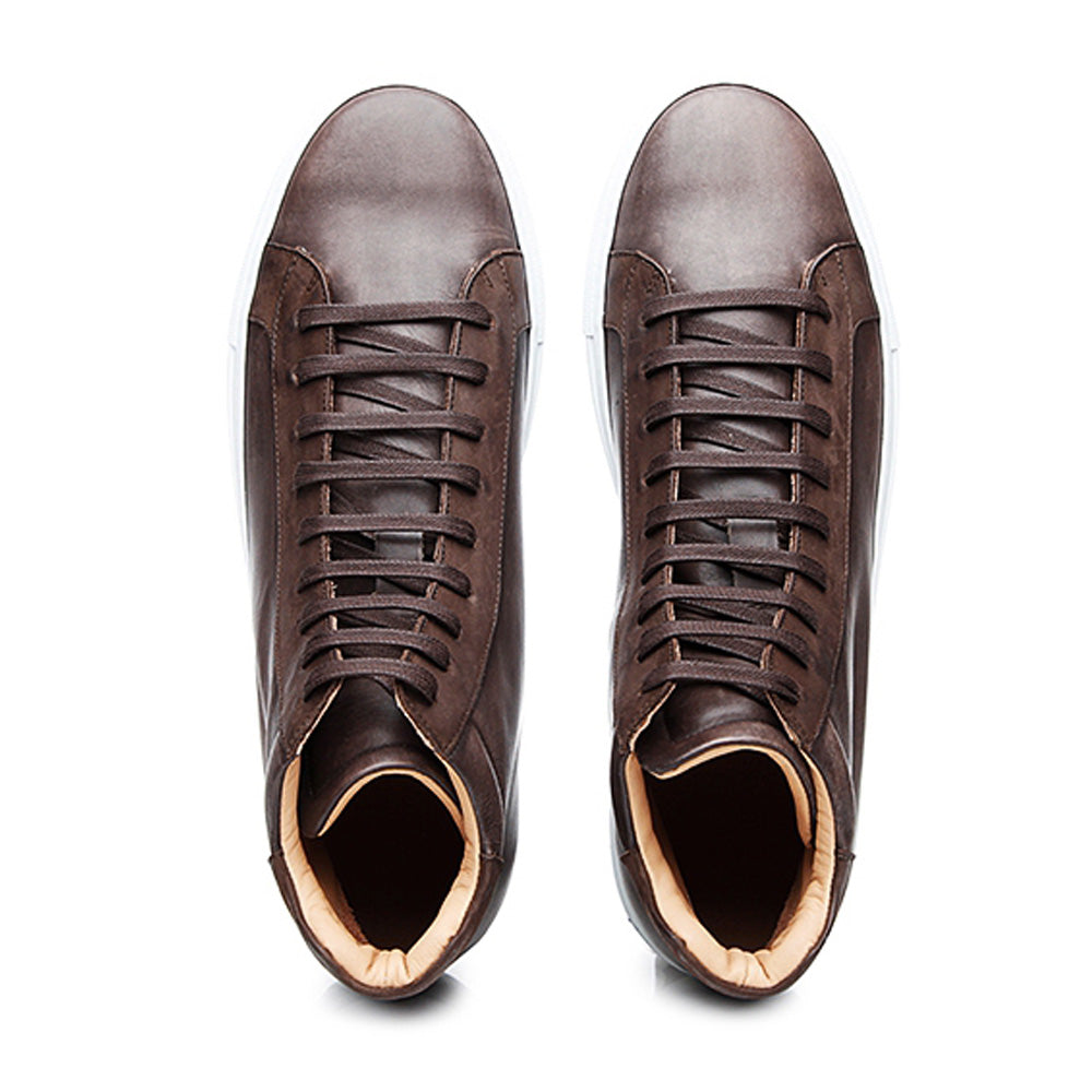 Shawn Brown Patina Finish High Top Sneaker