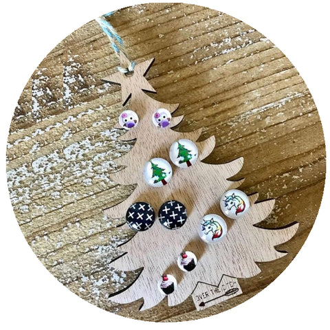 Accessory Storage- Christmas Tree Earring Holder