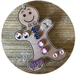 Accessory Storage- Gingerbread Man Earring Holder
