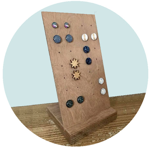 Accessory Storage- Small Standing Earring Holder