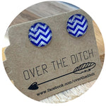 Domes-Blue & Silver Chevron