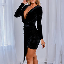 Load image into Gallery viewer, Lexi Velvet Wrap Dress