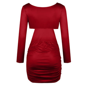 Roxie V Neck Hollow Out Dress