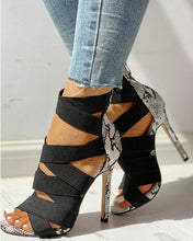 Load image into Gallery viewer, Betsie Bandage Patchwork Heels