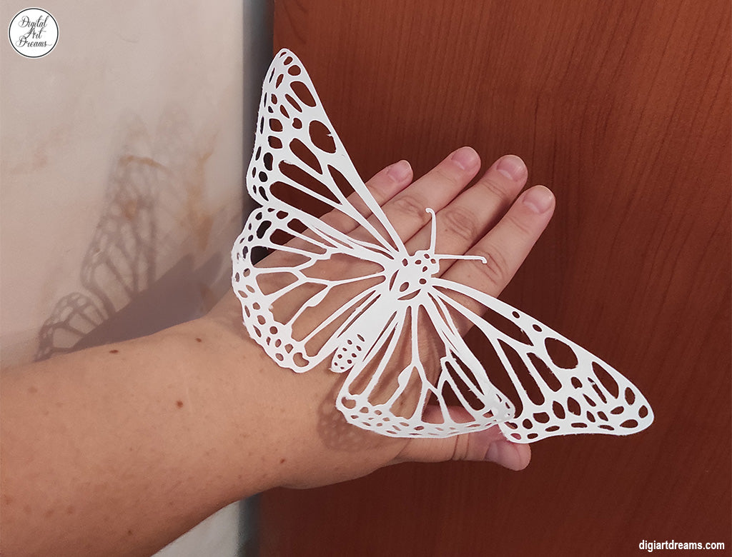 Paper cutting machine butterfly project