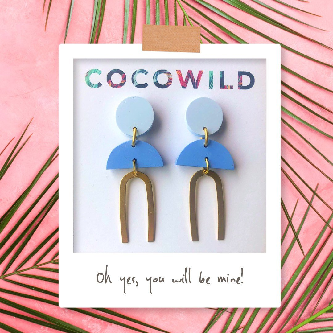 MOLLY - Light Blue & Blue - COCOWILD