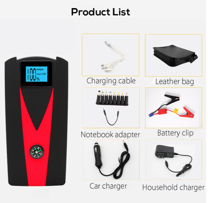 PowerJumper™ Portable Battery Car Jump Starter Power Pack with Jumper Cables and Dual  USB Charger