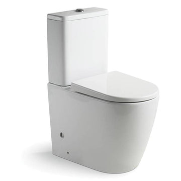 Argent Grace Hygienic Flush, Back To Wall, Universal Rear/Bottom Entry Toilet Suite