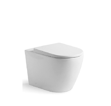 Argent Grace HygienicFlush, Comfort Height, Wall Faced Toilet Suite