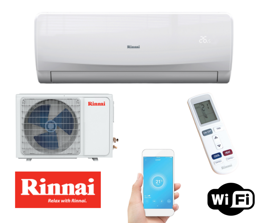 Rinnai 5.2kw Reverse Cycle Split System Air Conditioner RINV51RC
