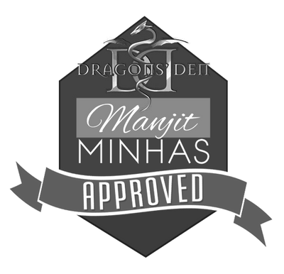 The Dragons' Den Manjit Minhas Approved seal is used on all products invested in by Manjit Minhas