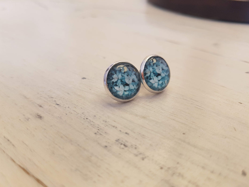 Turquoise leave in Silver
