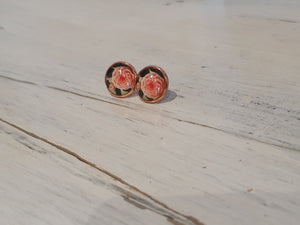 Vintage flower rose gold