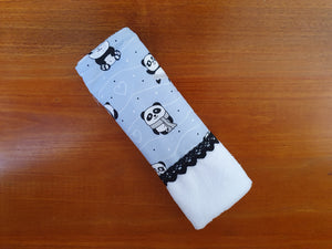 Burp cloth, panda vintage