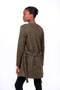 Jane Knitted Coat Olive