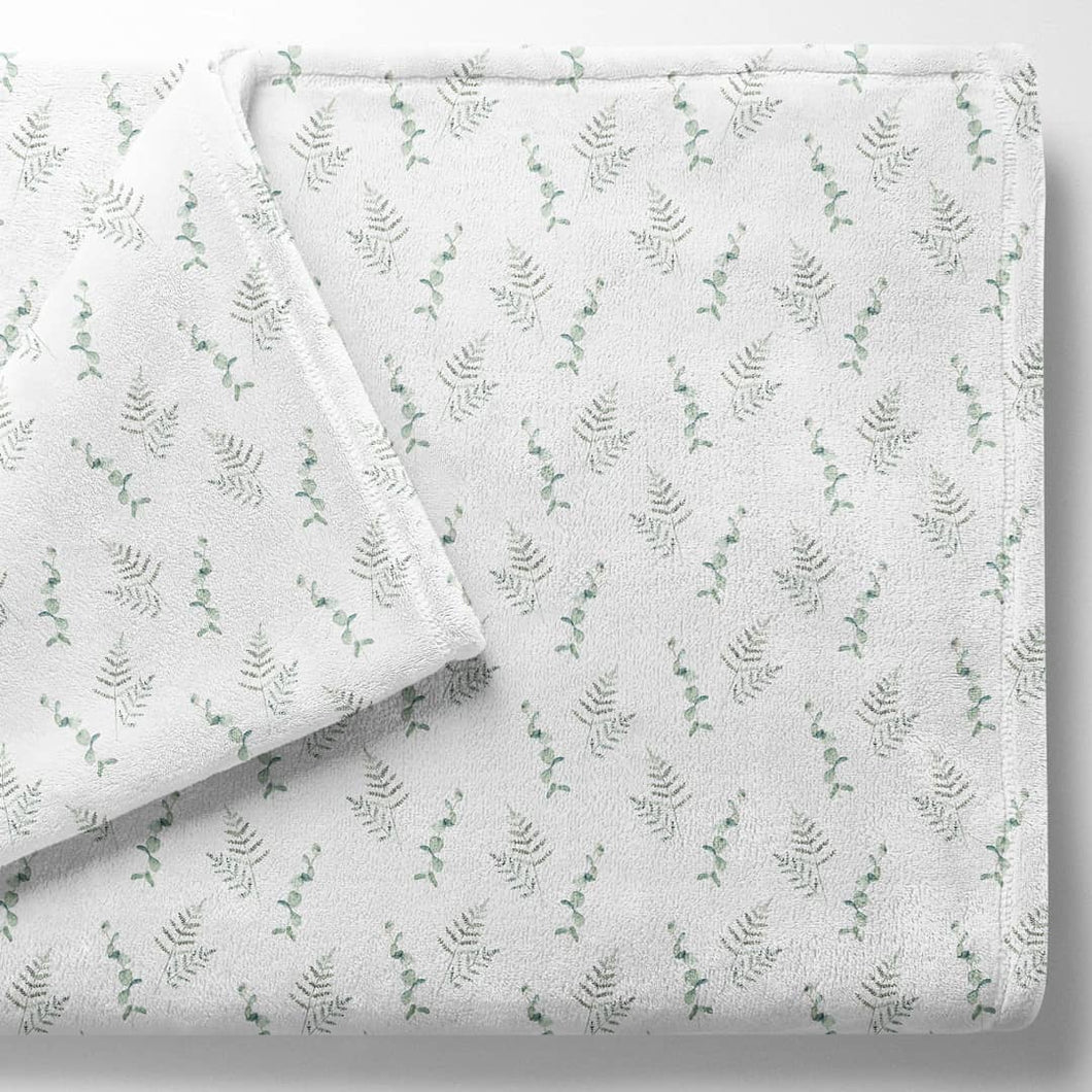 Baby fleece blanket, Baby leaf