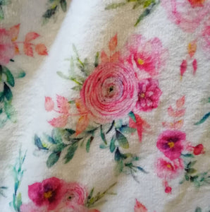 Baby fleece blanket princess peonies