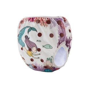 Mermaid swim diaper