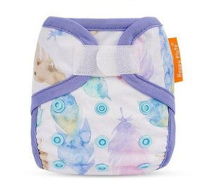 Happy Flute Newborn Velcro diaper cover, Boho leaves