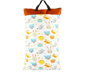 Happy Flute diaper wetbag, Large, Cats and Dogs