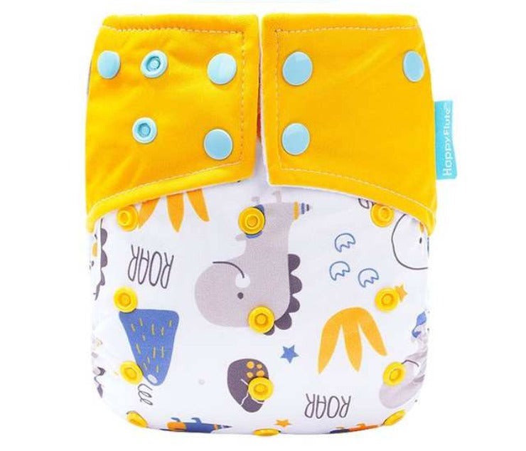 Happy Flute pocket reusable diaper, Dino
