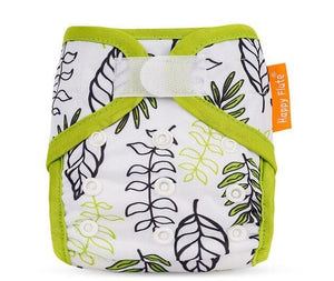 Happy Flute Newborn Velcro diaper cover, minimal leaves