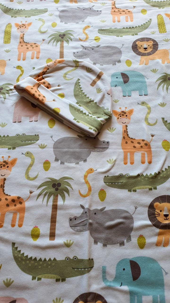 Baby Wild animals Newborn Swaddle set