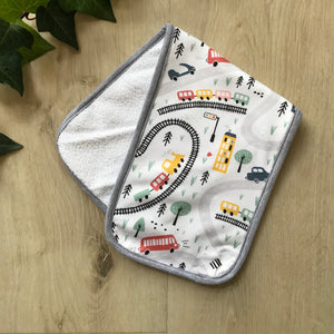 Trains burp cloth