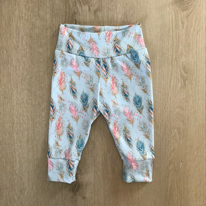 Baby cuffed leggings, Boho print