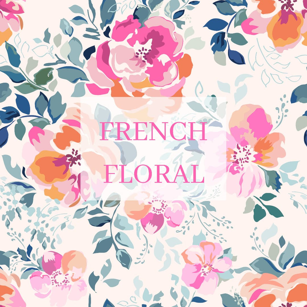 Baby fleece blanket, French floral