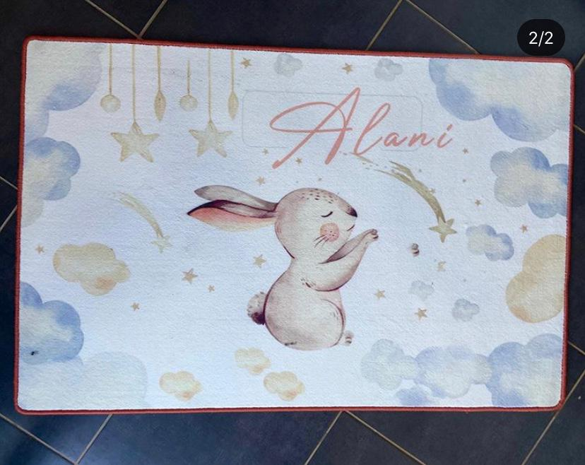 Personalized rugs - Bunny theme