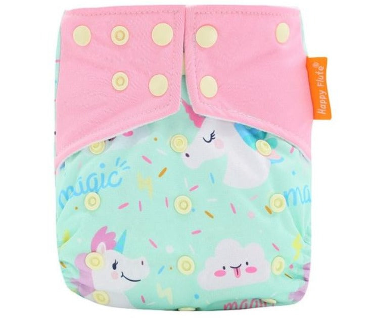 Happy Flute pocket reusable diaper, Unicorn
