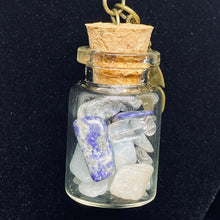 Load image into Gallery viewer, Crystal Potion in a Bottle Necklace: Throat Chakra