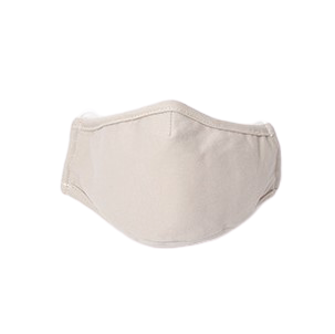 Organic Cotton Face Covering with Silicon Bag