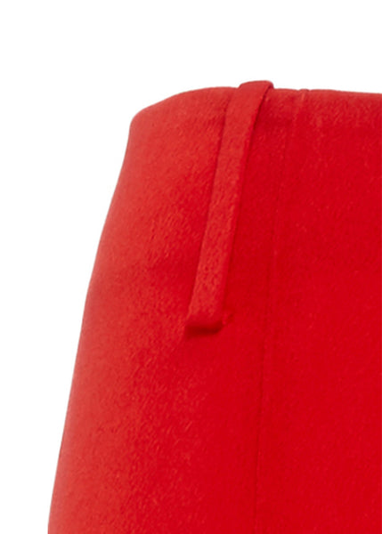 Ms MIN Soft Bell Bottom Pant (Red)