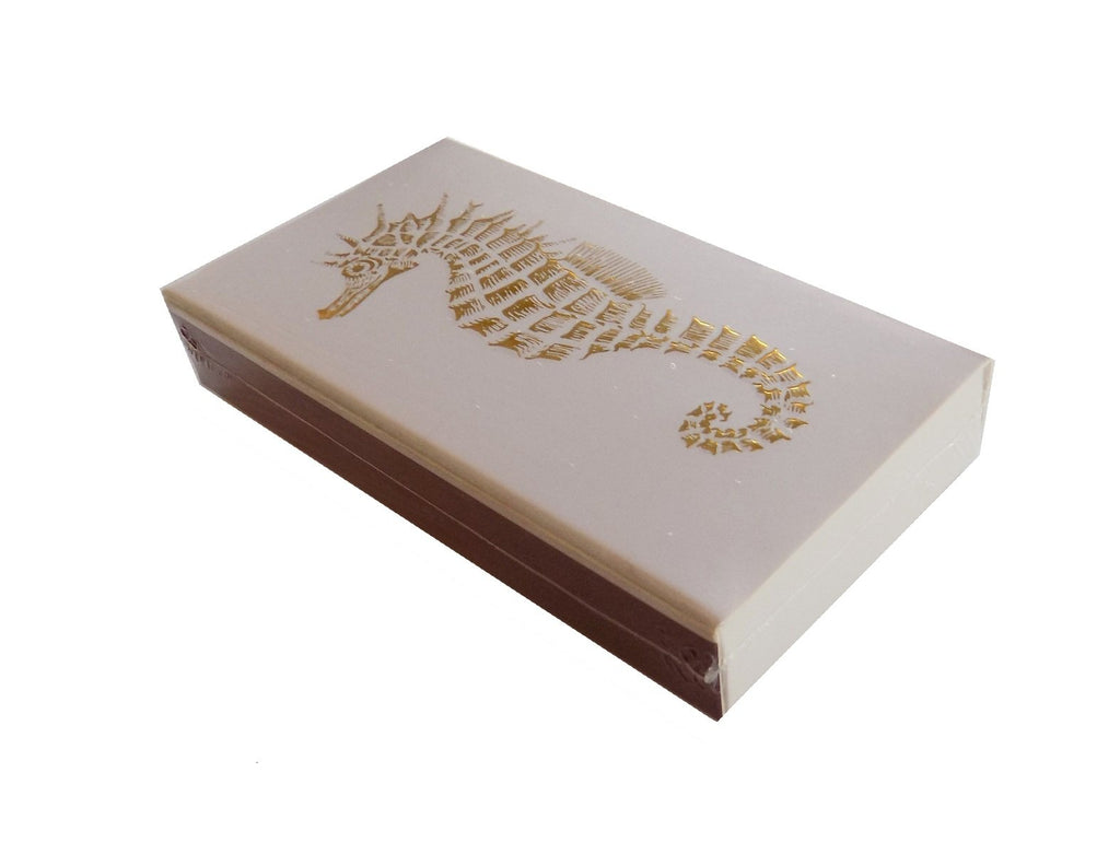 The Joy of Light Gold Seahorse on Embossed Matches (4 inches)