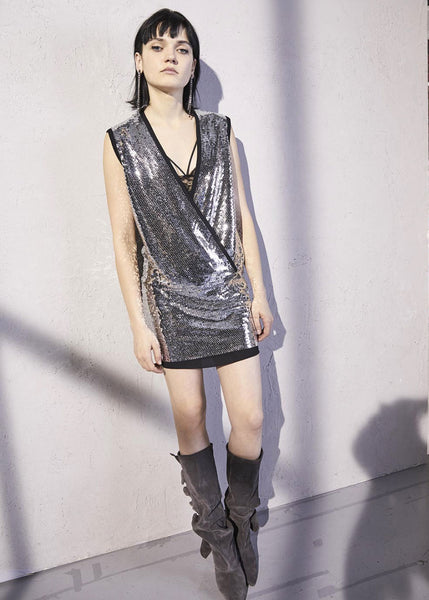 8PM Kosuth Dress (Silver Sequin)