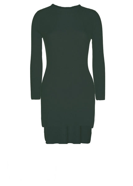 ARJÉ - Santorini Layered Crew Neck Knit (Emerald)