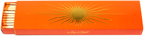 The Joy Of Light Sun on Orange with Gold Foil (Embossed) 9 inch