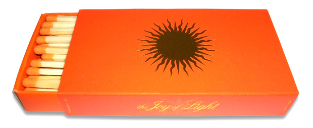 The Joy Of Light Sun on Orange with Gold Foil (Embossed) 4 inches