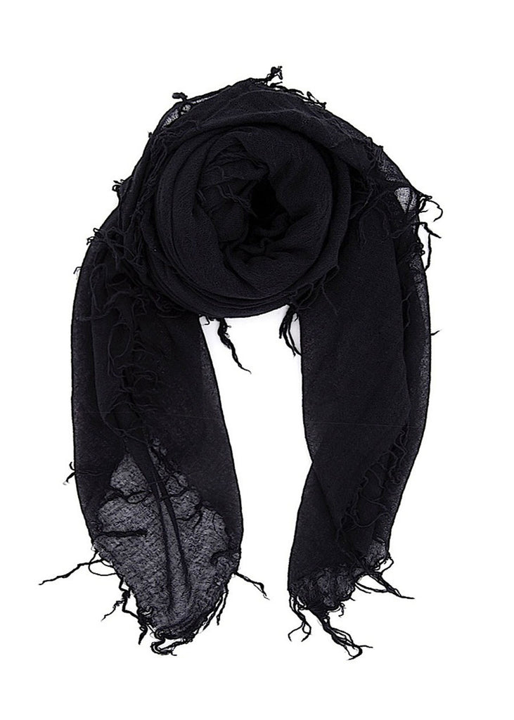 CHAN LUU Cashmere and Silk Scarf (Black)