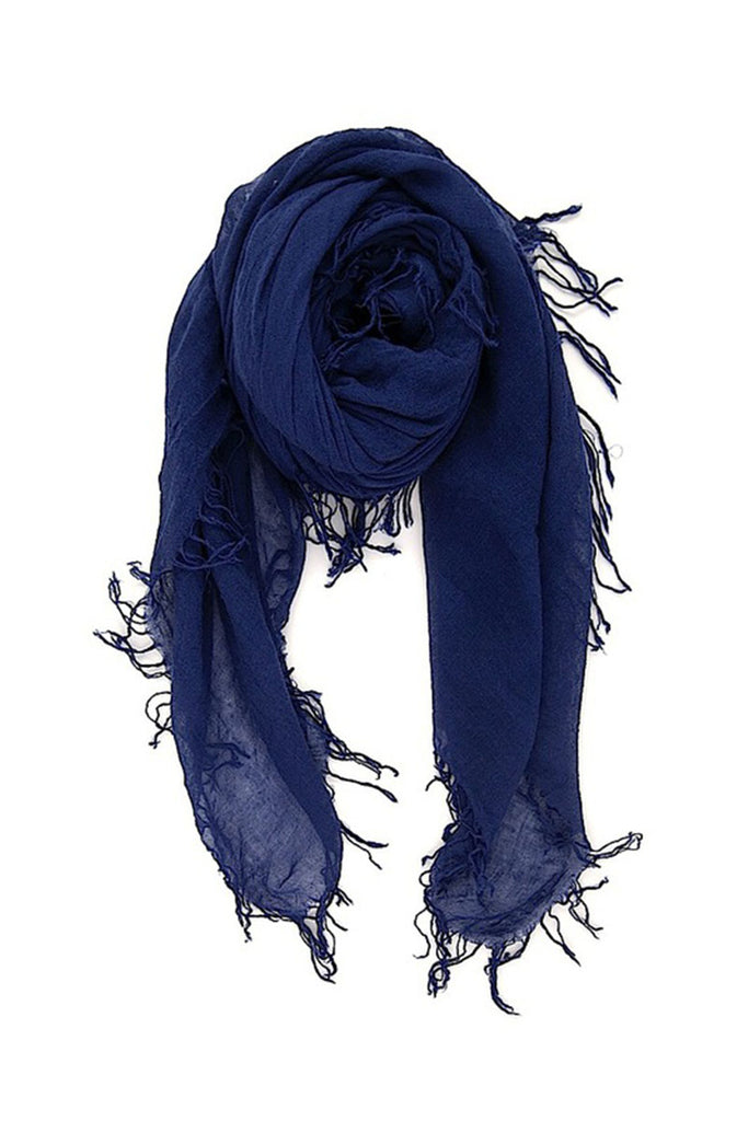 CHAN LUU Cashmere and Silk Scarf (Medieval Blue)
