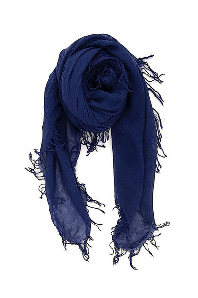 CHAN LUU <br/> Cashmere and Silk Scarf - Medieval Blue
