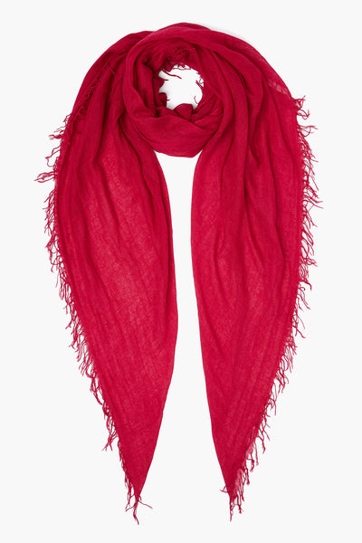 CHAN LUU Cashmere and Silk Scarf (Sangria)