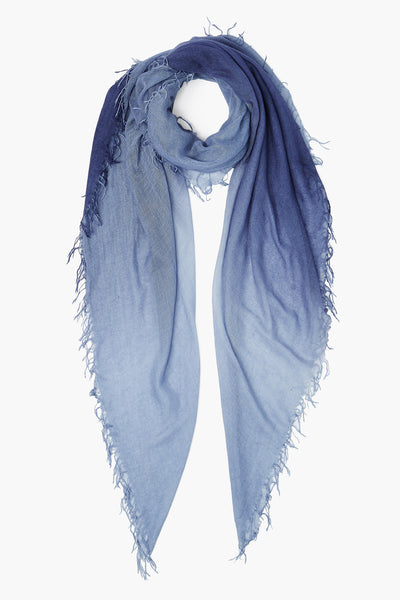CHAN LUU <br/> Cashmere and Silk Scarf - Crown Blue/Tempest